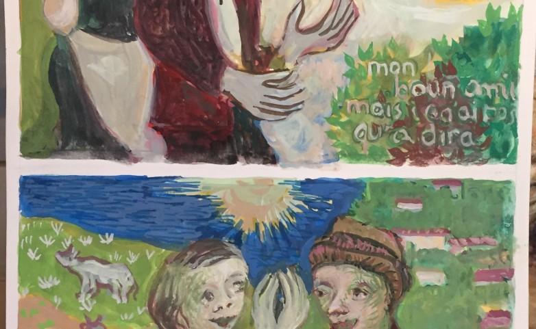 <span>LEOPOLD MARBOEUF:</span> &quot;Patois&quot;&lt;br /&gt; aquarelle&lt;br /&gt;